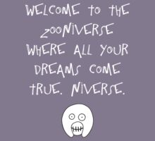 The Mighty Boosh – Welcome to the Zooniverse (White) Kids Tee