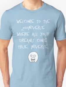 The Mighty Boosh – Welcome to the Zooniverse (White) T-Shirt