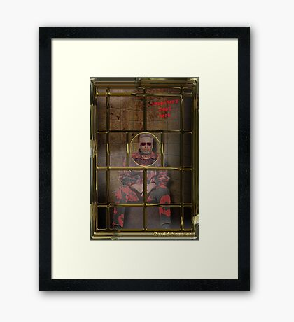 silence of the slam Framed Print