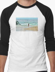 Little Surfer Dude Men's Baseball ¾ T-Shirt