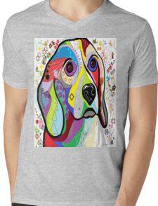 BEAGLE Mens V-Neck T-Shirt