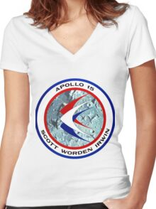 Apollo 15 Mission Logo Women's Fitted V-Neck T-Shirt