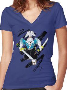 Miyamoto Usagi Women's Fitted V-Neck T-Shirt