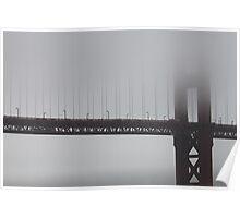 Golden Gate Bridge Under Fog Poster