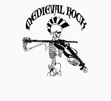 Knochengeiger / Skeleton Fiddler  – Medieval Rock (black print) Unisex T-Shirt