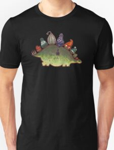 Green Stegosaurus Derposaur with Hats T-Shirt