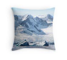 Cierva Cove with Glaciers & Iceberg Throw Pillow