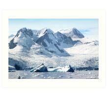 Cierva Cove with Glaciers & Iceberg Art Print