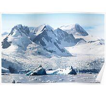 Cierva Cove with Glaciers & Iceberg Poster