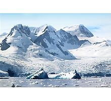 Cierva Cove with Glaciers & Iceberg Photographic Print