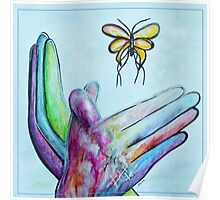 American Sign Language BUTTERFLY Poster