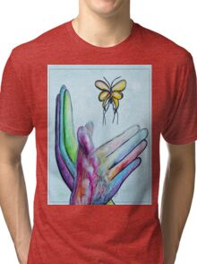 American Sign Language BUTTERFLY Tri-blend T-Shirt