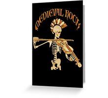 Knochengeiger / Skeleton Fiddler  – Medieval Rock Greeting Card