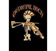 Knochengeiger / Skeleton Fiddler  – Medieval Rock Photographic Print