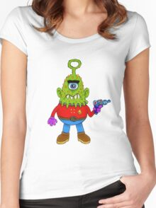 Cyclops Alien Beasty Women's Fitted Scoop T-Shirt