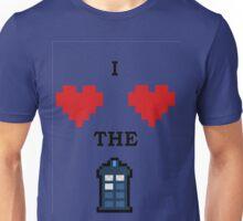 I <3 <3 the tardis Unisex T-Shirt