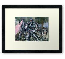 Swamp Hunt Framed Print