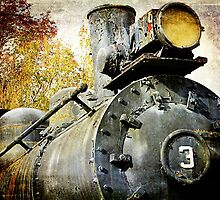"""Three Spot"" Locomotive by AuntDot"