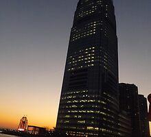Goldman Sachs Skyscraper, Colgate Clock, Sunset View, Jersey City, New Jersey by lenspiro
