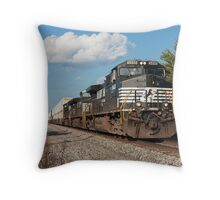 Norfolk Southern Container Train Throw Pillow