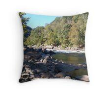 Appalachian River  Throw Pillow