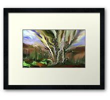 TREE DISSIPATES Framed Print