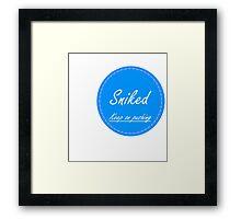 Sniked logo Patch  Framed Print