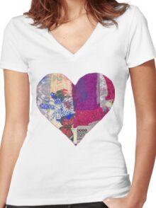 Heart1 Women's Fitted V-Neck T-Shirt