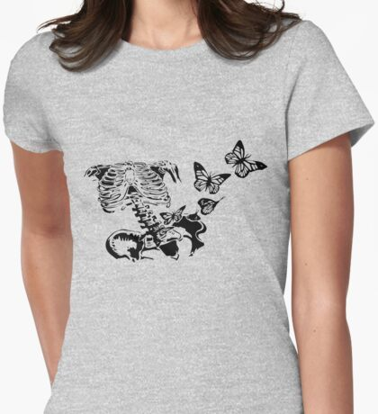 Butterflies in my stomach Womens Fitted T-Shirt