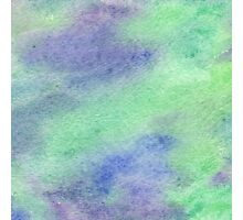 Green and Purple Calming Watercolor Photographic Print