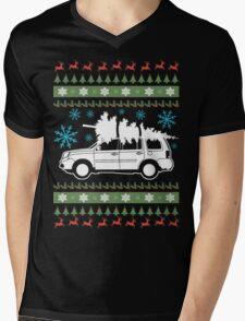 Pilot xmas Design Mens V-Neck T-Shirt