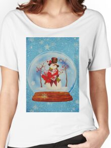 Snowman in a Snowglobe Women's Relaxed Fit T-Shirt