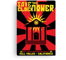 Clocktower Propaganda Canvas Print