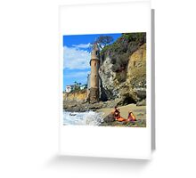 Pirate Mermaid at Victoria Beach Greeting Card
