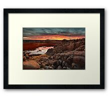 Hard Way To Sunset Framed Print
