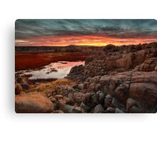 Hard Way To Sunset Canvas Print