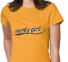 Nerdy Girl Womens Fitted T-Shirt