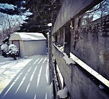 Snowy Shed by wjwphotography