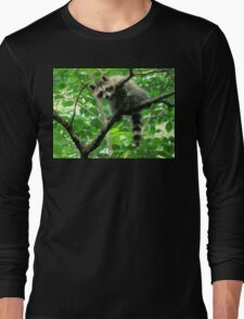 Yeah, I'm just hangin' out. Whatchu doin'? Long Sleeve T-Shirt