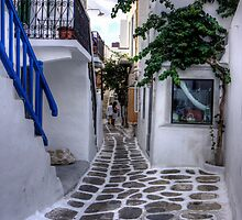 Residential Streets of Mykonos - iPhone Case by Tom Gomez