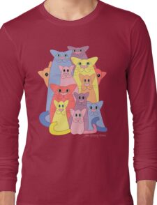 Twelve Cats For Happiness Long Sleeve T-Shirt