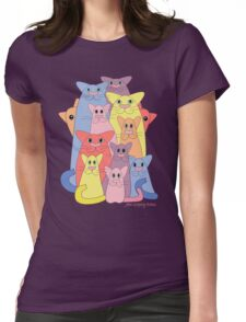 Twelve Cats For Happiness Womens Fitted T-Shirt