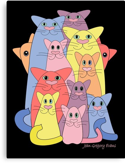 Twelve Cats For Happiness by Jean Gregory  Evans