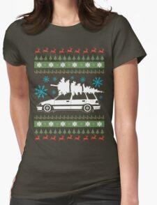 Wagon Xmas Shirt Womens Fitted T-Shirt
