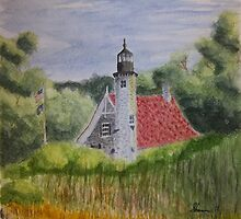 White River Lighthouse Station by Mark Sherman