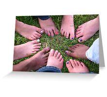 Fun Feet Greeting Card