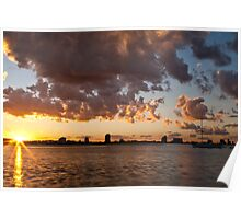 Sundown on the broadwater Poster