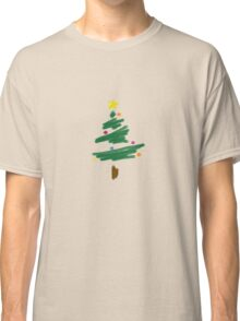 Brush Stroke Christmas Tree Classic T-Shirt