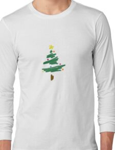 Brush Stroke Christmas Tree Long Sleeve T-Shirt