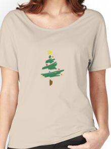 Brush Stroke Christmas Tree Women's Relaxed Fit T-Shirt